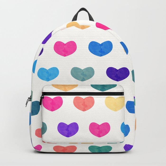 Colorful Cute Hearts III Backpack