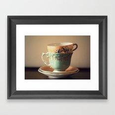 Tea Set Framed Art Print
