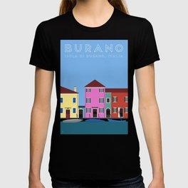 Isola di Burano, Italy Travel Poster T-shirt