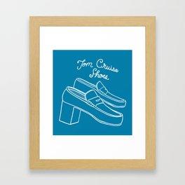 Tom Cruise Shoes Framed Art Print