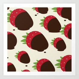 Chocolate Covered Strawberries Art Print
