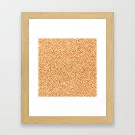 Cork board Framed Art Print