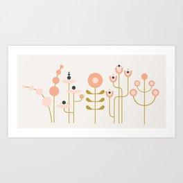 very graphic flowers Art Print