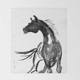Horse (Ink sketch) Throw Blanket