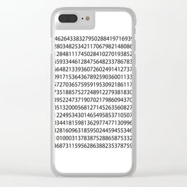 1000 digits of Pi (White) Clear iPhone Case