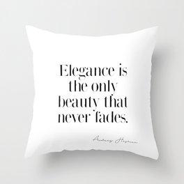 dce5bb3d26 Elegance by Audrey Hepburn Throw Pillow