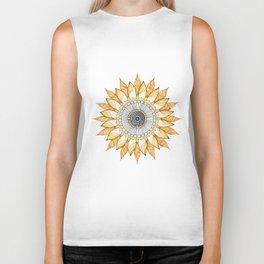 Sunflower Mandala Biker Tank