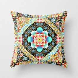 Bricolage Patchwork Quilt (printed) Throw Pillow