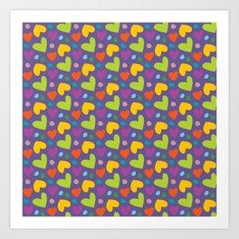 Happy Hearts Art Print