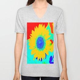 Fun Sunflower #decor #society6 Unisex V-Neck