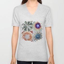Aesthetes Formation Flowers  ID:16165-122917-34680 Unisex V-Neck