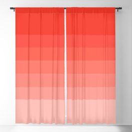 Cherry Tomato - Living Coral - Millennial Pink Ombre Blackout Curtain
