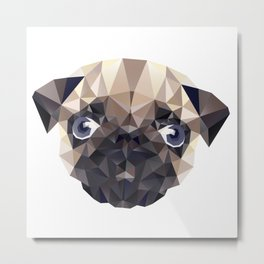 Pug Diamonds Metal Print