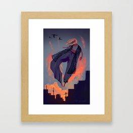 Seduced by the Sunset Framed Art Print