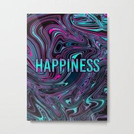 "ABSTRACT LIQUIDS HAPPINESS ""51"" Metal Print"