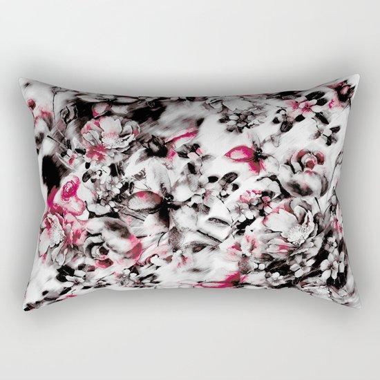 Blurry Floral Rectangular Pillow