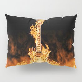 Flaming Guitar Pillow Sham