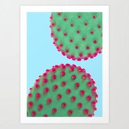 Color Cactus Art Print