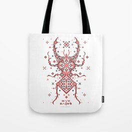 Stag Beetle Ornament Tote Bag