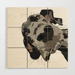 Great Dane dog in your face Wood Wall Art