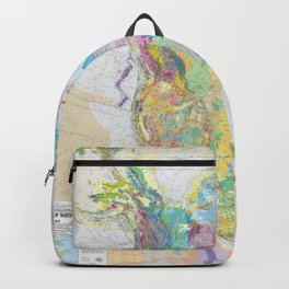 USGS Geological Map Of North America Backpack