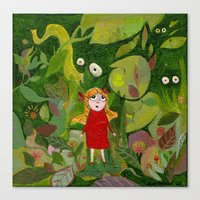 jungle Canvas Prints featuring jungle by Bunny Noir
