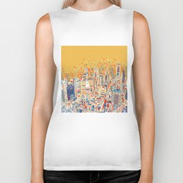 philadelphia city skyline Biker Tank