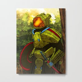 Techno-Samurai Metal Print