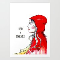 Red is Forever Art Print