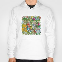 floral pattern Hoodies featuring Floral pattern by Matt Johnstone