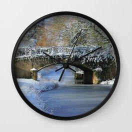 Winter at Lady's Bridge Wall Clock
