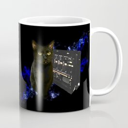 Space Cat with Synthesizer 2 Coffee Mug