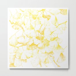 Ginkgo biloba (Autumn gold) Metal Print