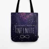 infinite Tote Bags featuring Infinite by Enyalie