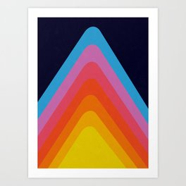 Colorful Peaks Art Print