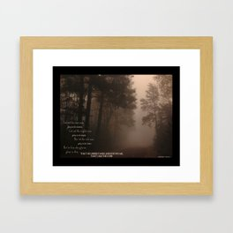 Jeremiah 9 , Know that I am the Lord Framed Art Print