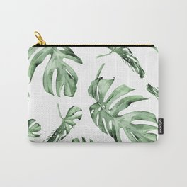 Monstera Pattern Green #society6 #buyart Carry-All Pouch