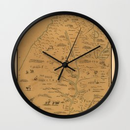 Map Of The Mississippi River 1682 Wall Clock