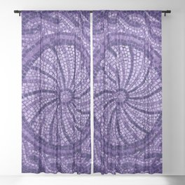 Ultra Violet Stone Tiles 18-3838 Sheer Curtain