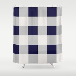 Plaid Pillow Shower Curtain
