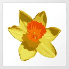 Spring Daffodil Vector Isolated Art Print