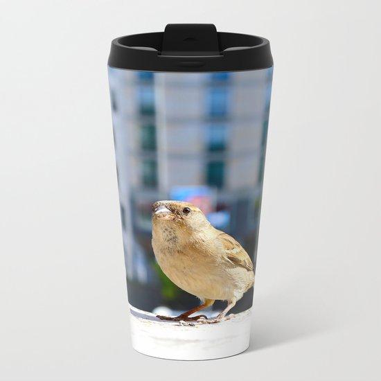 City Bird  Metal Travel Mug