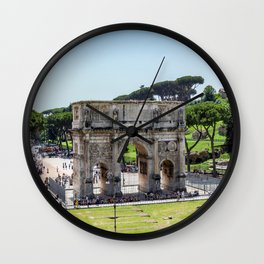 Triumphal Arch of Constantine near Colosseum - Rome, Italy Wall Clock