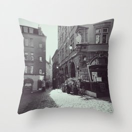 Vieux Lyon - Old streets of an enchanting french  city - Fine Arts Travel Photography Throw Pillow