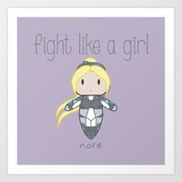 starcraft Art Prints featuring Fight Like a Girl - Nova | Starcraft | Heroes of the Storm by ~ isa ~