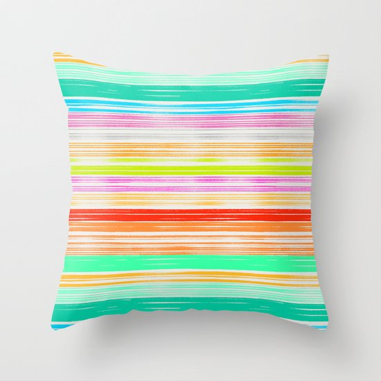 Waves_Multicolor2 Throw Pillow