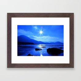 Beach In Blue Framed Art Print