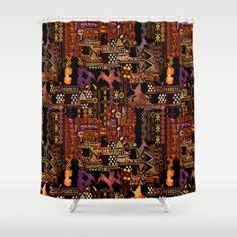 Ethno-jazz Shower Curtain