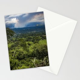 Steam Rising from Masaya Volcano in the Rainforest of Nicaragua Stationery Cards