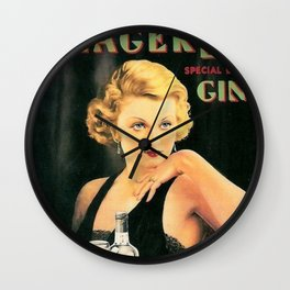 Seagers Special Dry Gin Alcoholic Cocktails Vintage Advertisement Poster Wall Clock